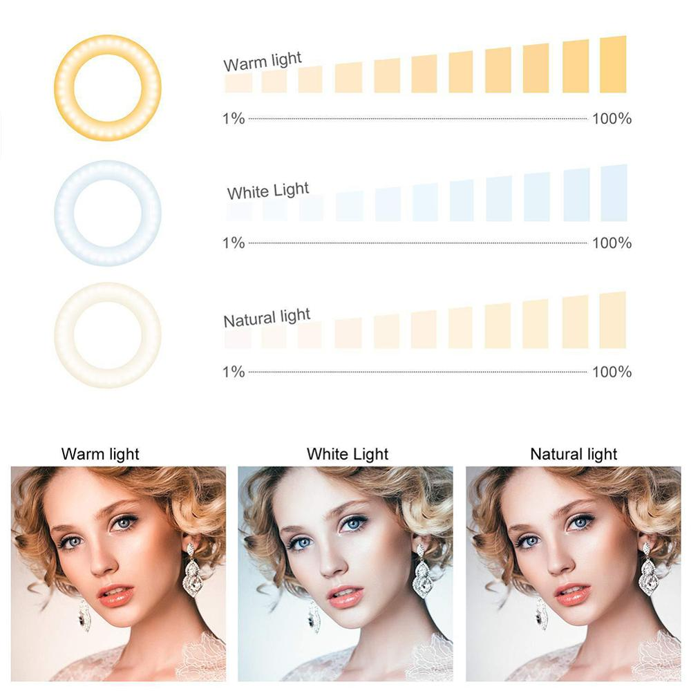 cheapest led selfie ring light camera smartphone Photography usb Dimmable  Phone Ring Lamp Tripods For Makeup Youtube Video Live Studio