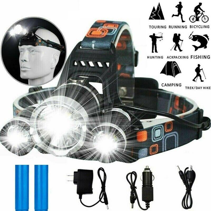 LED Headlamp Headlight Fishing Head Lantern Touch Waterproof Head Torch Flashlight Head Lamp For Hiking Camping Riding