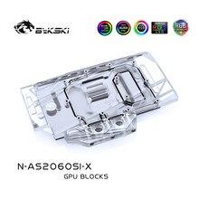 Bykski gpu refroidisseur pour ASUS RTX 2060 O6G SI, VGA bloc de refroidissement par eau 5v 3pin/12v 4pin prise en charge de la carte mère de synchronisation N-AS2060SI-X