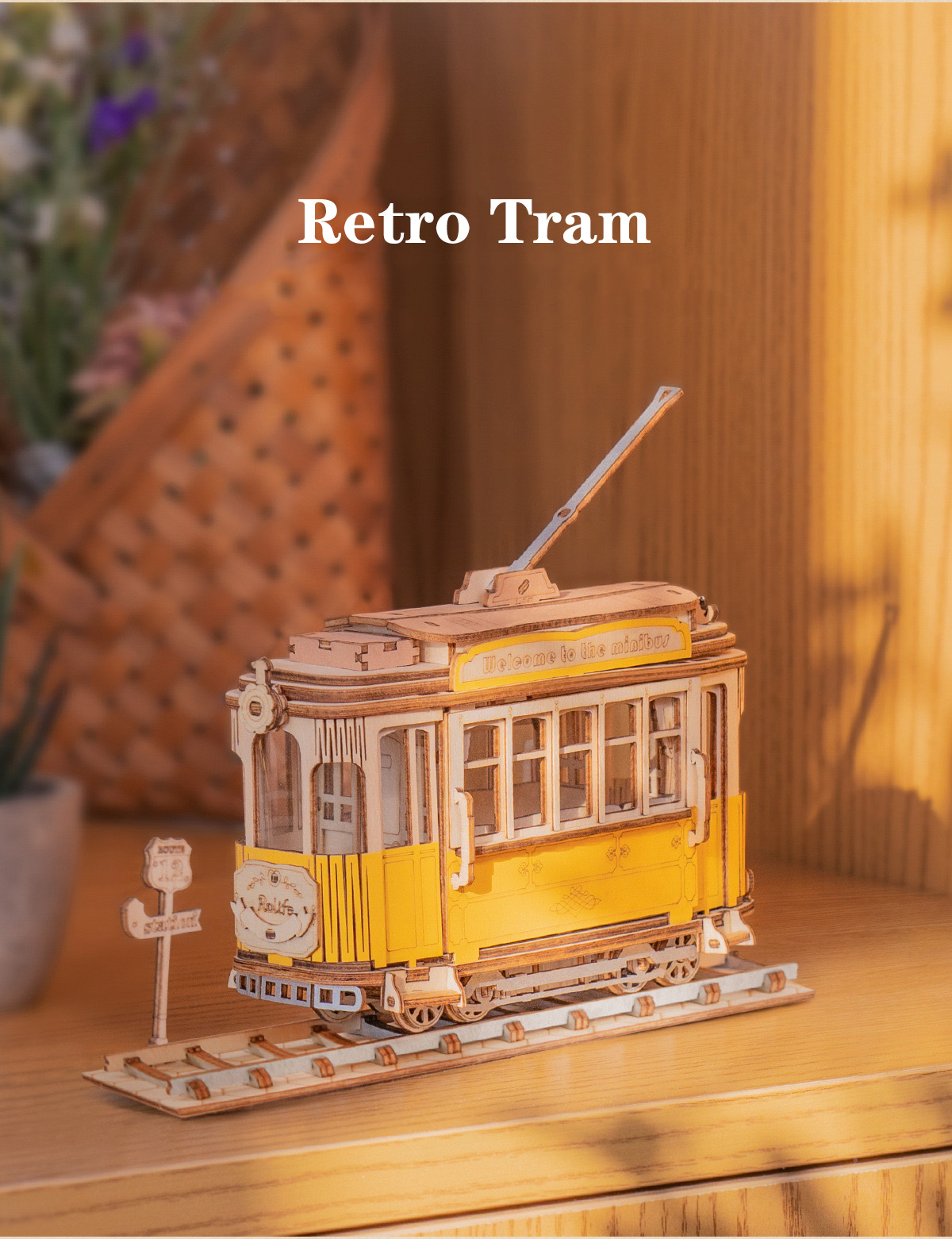 Rolife Modern 3D Wooden Puzzle - Retro Collection TG504+TG505+TG506