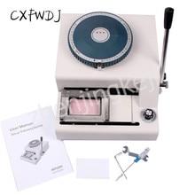 JX-68C Manual PVC Card Embossing Machine Membership Card Coder One Card Coder Card Convex Code Machine JX-68A new 72 character pvc manual vip credit card embossing machine embosser