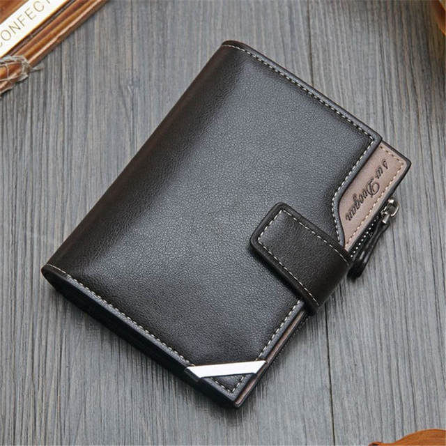 NO.ONEPAUL Vintage Men's Short Wallet Men Genuine Leather  Multi-Card Bit Retro Card Holder Clutch Wallets Purses First Layer Re 5