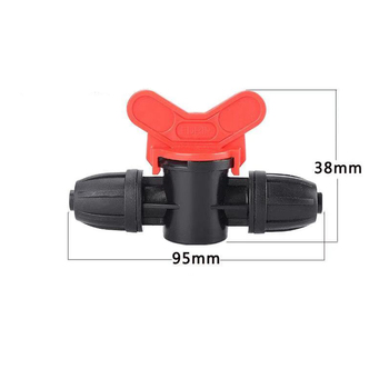 Heman 9/12mm 8/11 Ball Valve PE hose Valve Lock Nuts Garden Water Connectors Micro Irrigation PE Pipe Hose joints Fittings 2pcs image