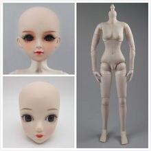 Corpo móvel feminino da junção do corpo 1/3 da boneca apropriado para a boneca plástica de 60 cm e a cabeça