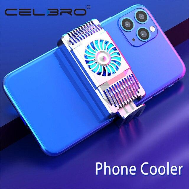 Stretchable נייד טלפון Cooler סמיקונדקטור רדיאטור קירור מאוורר Stand קירור למטה טמפרטורת מחזיק השתק עבור iPhone Huawei