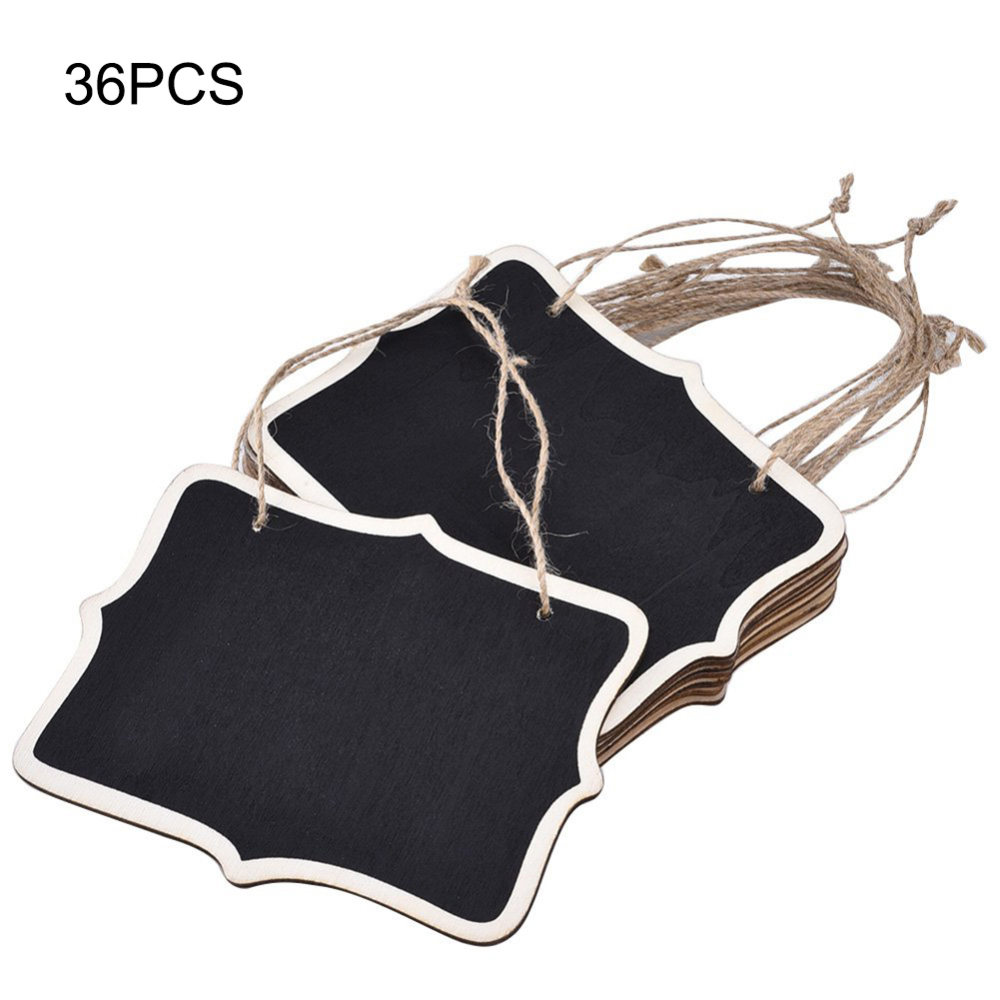 36pcs Mini Double Sided Hanging Chalkboards Blackboard With Hanging String For Message Board Signs