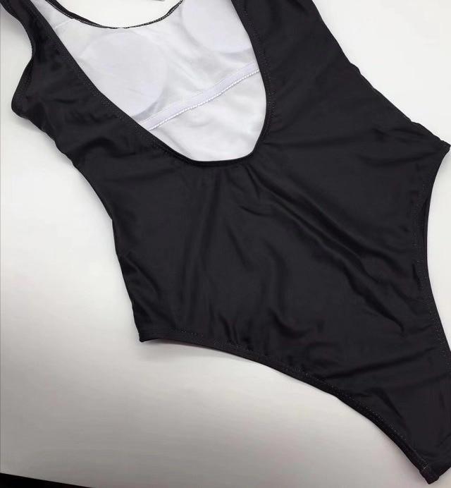 MOS03 European and American one-piece swimwear big brand red monogram swimwear cross-border exclusive