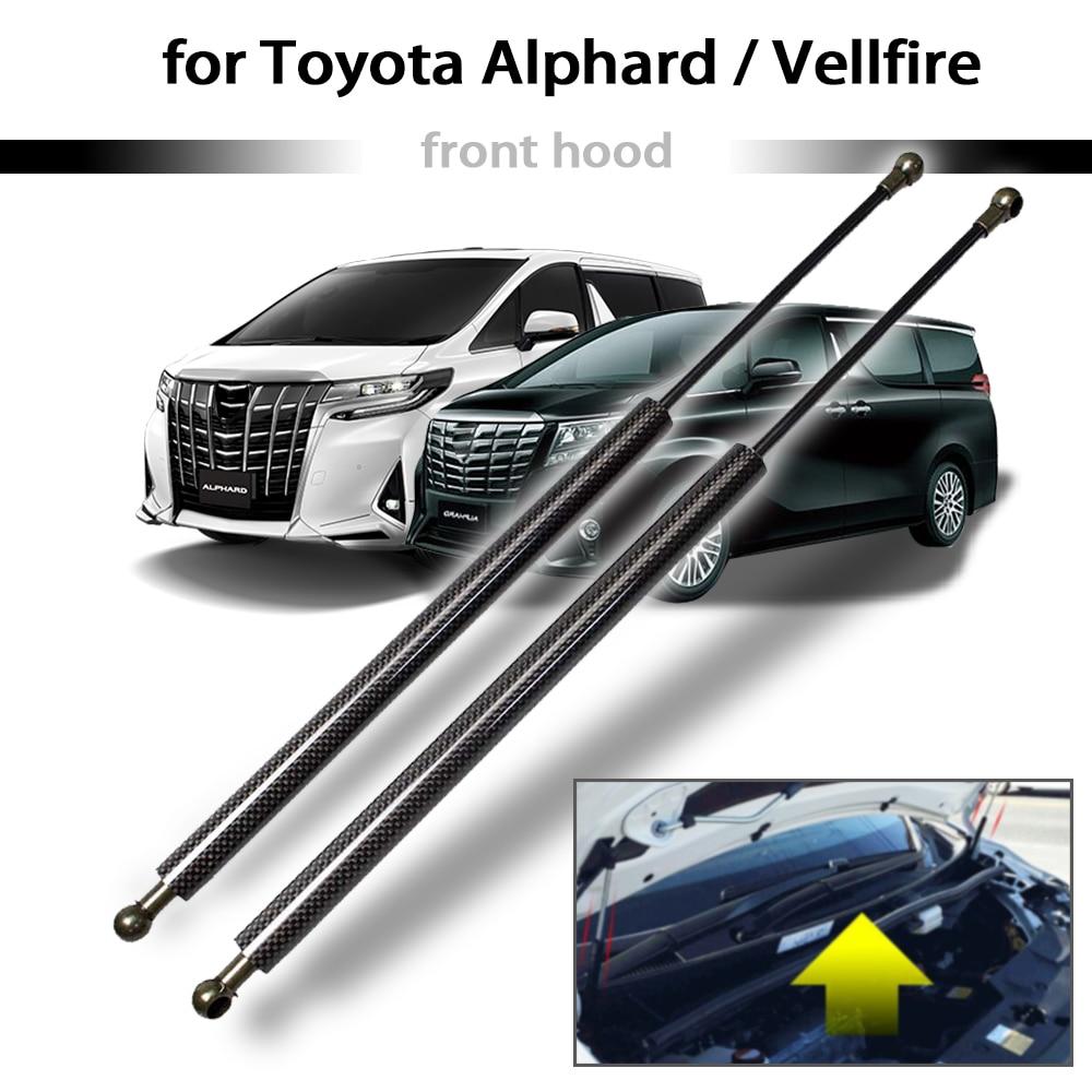 para toyota alphard vellfire 30 series 2015 2019 2x capo dianteiro modificar suportes de gas carbono