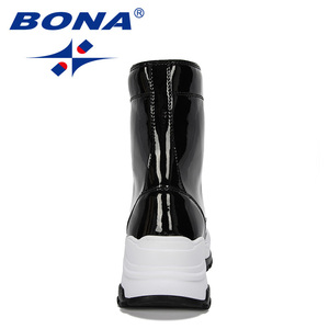 Image 2 - BONA 2019 New Designers Warm Platform Woman Snow Boots Plush Female Casual Sneakers Outdoor Snowboots Warm Shoes Ladies Footwear