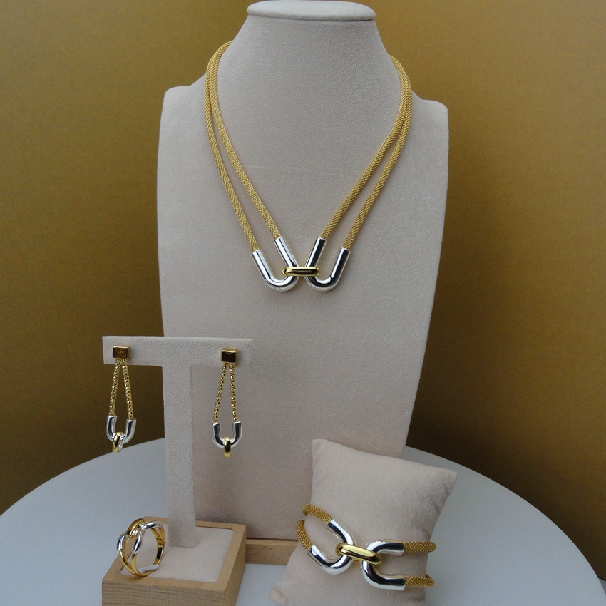 Yuminglai Jewelry-Sets Ladies-Accessories African New-Arrival FHK5712 Simple-Design Luxury