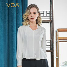 Fashion T-Shirt Streamer Black-Lines Long-Sleeved Voa Silk V-Neck White B720 36mm Waist-Wave