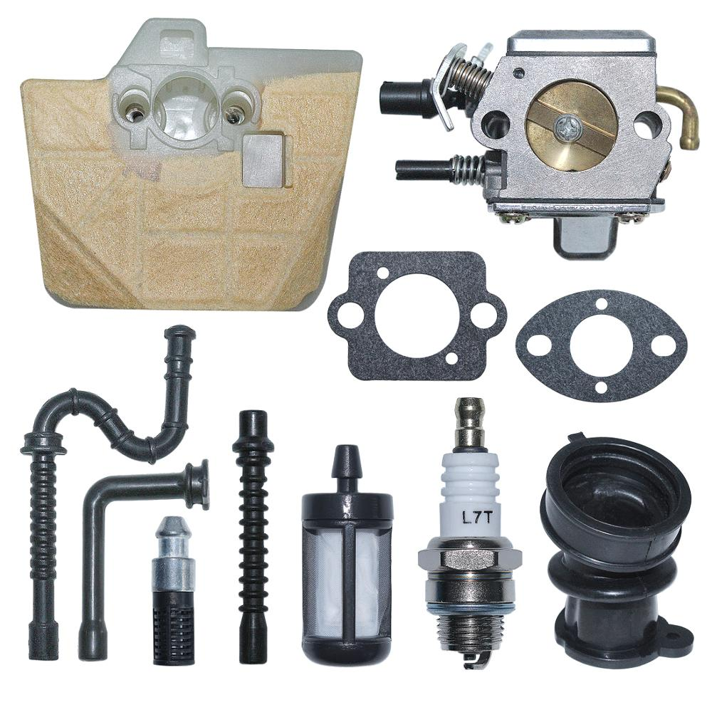 Carburetor Carb Air Fuel Filter Line Kit For Stihl 034 036 MS340 MS350 MS360 Chainsaw Replace 1125 120 0651 Zama C3A-S31A