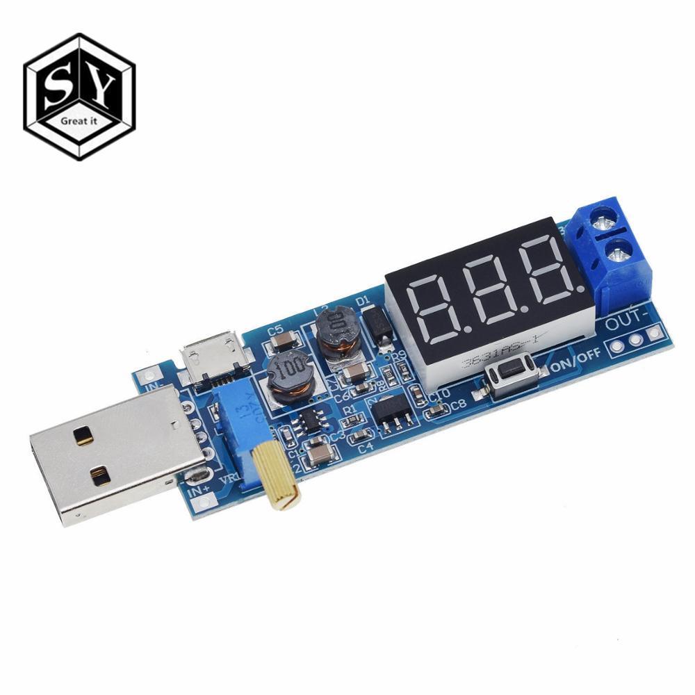 USB повышающий/уменьшающий модуль питания DC-DC 5 В до 3,5 В/12 В, Регулируемый понижающий преобразователь, DC 1,2-24 В
