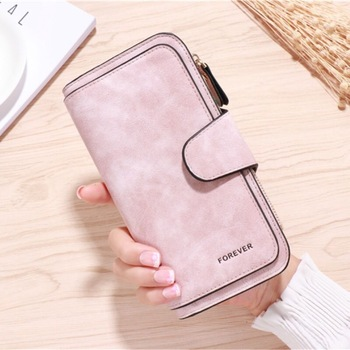 2020 new ladies wallet solid color small Messenger bag multi-function cell phone pocket portable with chain shoulder bags - Pink-B, One Size