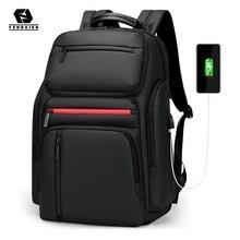 Fenruien 패션 비즈니스 대용량 노트북 배낭 남자 다기능 USB 충전 여행 배낭 학교 가방 틴 에이저