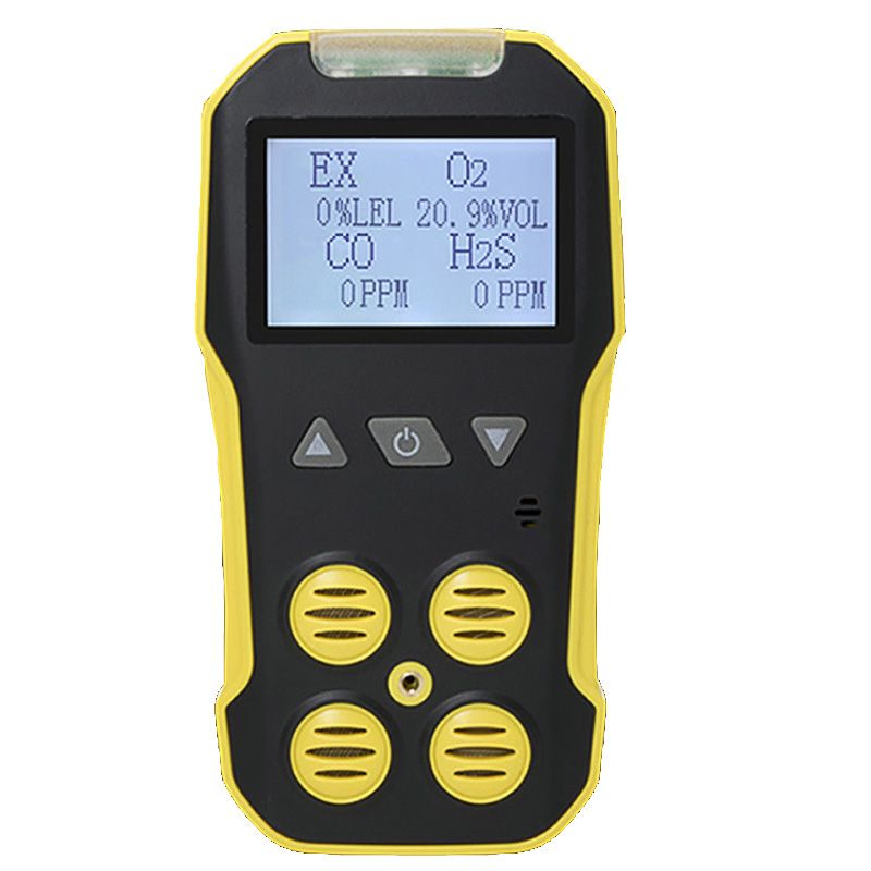 4 En 1 de sulfuro de hidrógeno de Detector de Gas de combustión CO O2 H2S LEL analizador perjudiciales tóxicos Multi Detector de fugas de Gas Monitor analizador