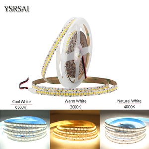1m 2m 3m 4m 5m 10mm PCB 2835 SMD 1200 LED Strip tape DC12V 24V ip20 Non waterproof Flexible Light 240 leds/m, White Warm White