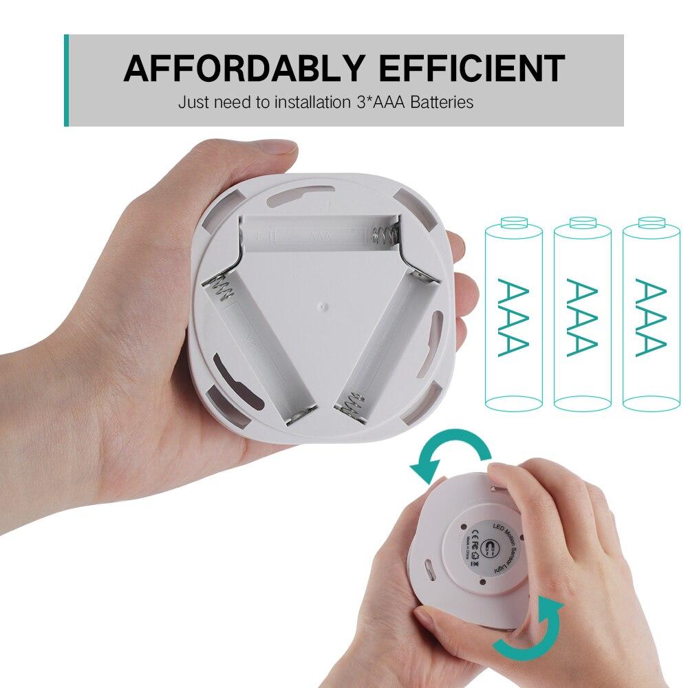 Image 3 - 10 LEDs PIR Motion Sensor Night Light Lamp for Bedroom Kitchen Magnetic Closet Cabinet Light Wireless Corridor Stair Light-in LED Night Lights from Lights & Lighting