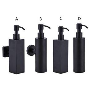 Image 1 - 200ml Wall Mounted Shower Bottle Pump Stainless Steel Shampoo Dispenser Black