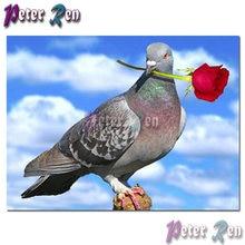 5d животное голубь Роза Алмазная Картина Вышивка Сделай Сам