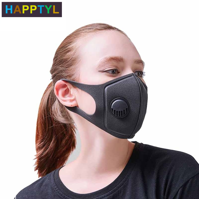 HAPPTYL 1Pcs Respiratory Dust Mask Upgraded Version Men & Women Anti-fog Haze Dust Pm2.5 Pollen 3D Cropped Breathable Mask
