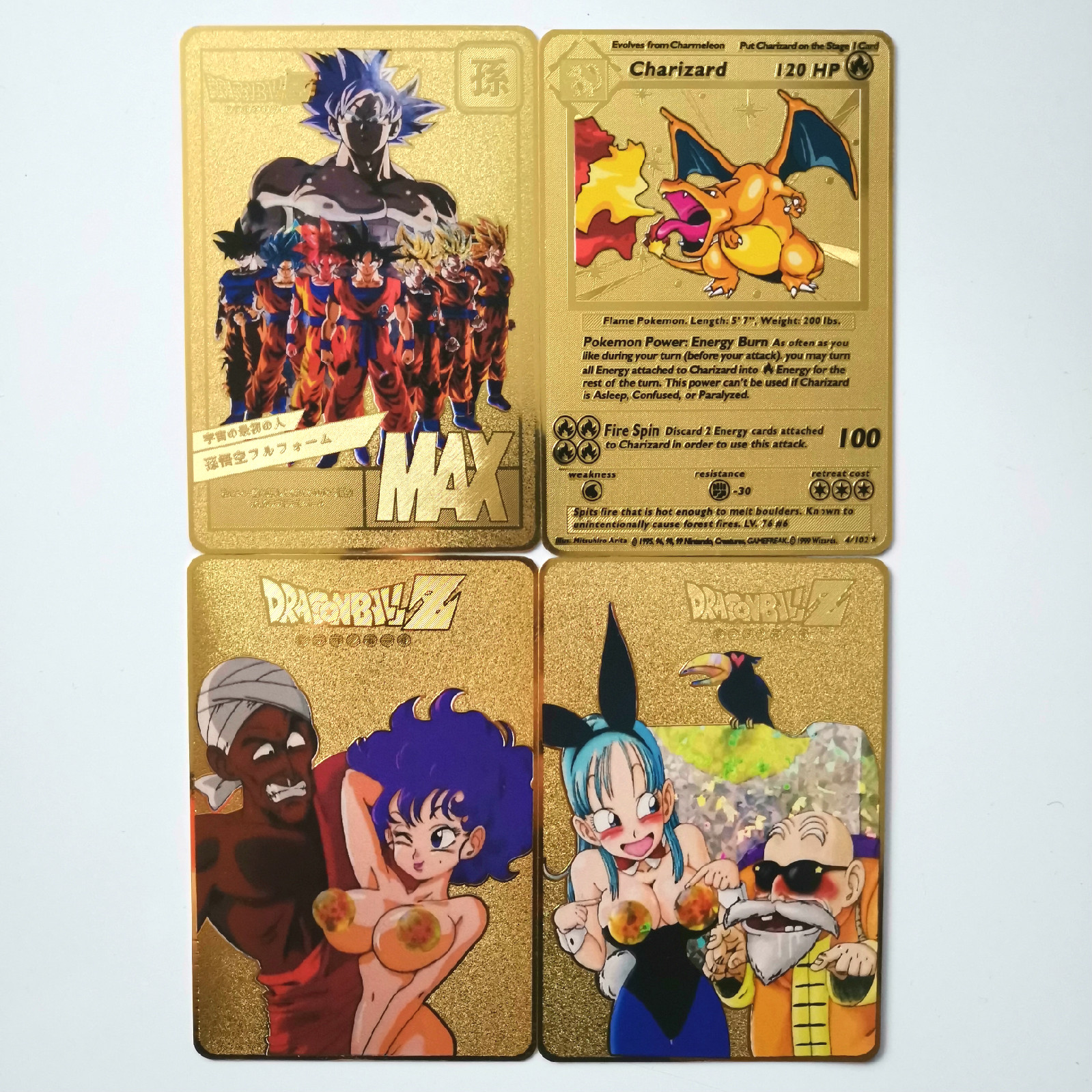 8 Styles Gold Metal Card Super Dragon Ball Z Single Heroes Battle Ultra Instinct Goku Game Collection Anime Cards
