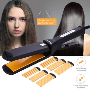 Image 2 - 4 in 1 Hair Curler Professional Hair Crimper Waver Straightener Corrugated Crimping Curling Irons Perm Splint Styling Tools 45