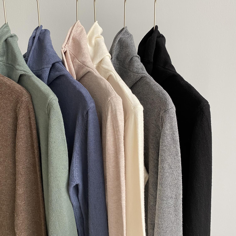 Водолазка стрейч Базовая рубашка для женщин осень и зима черный Карри соль серия осенний свитер 7 цветов|Водолазки|   | АлиЭкспресс