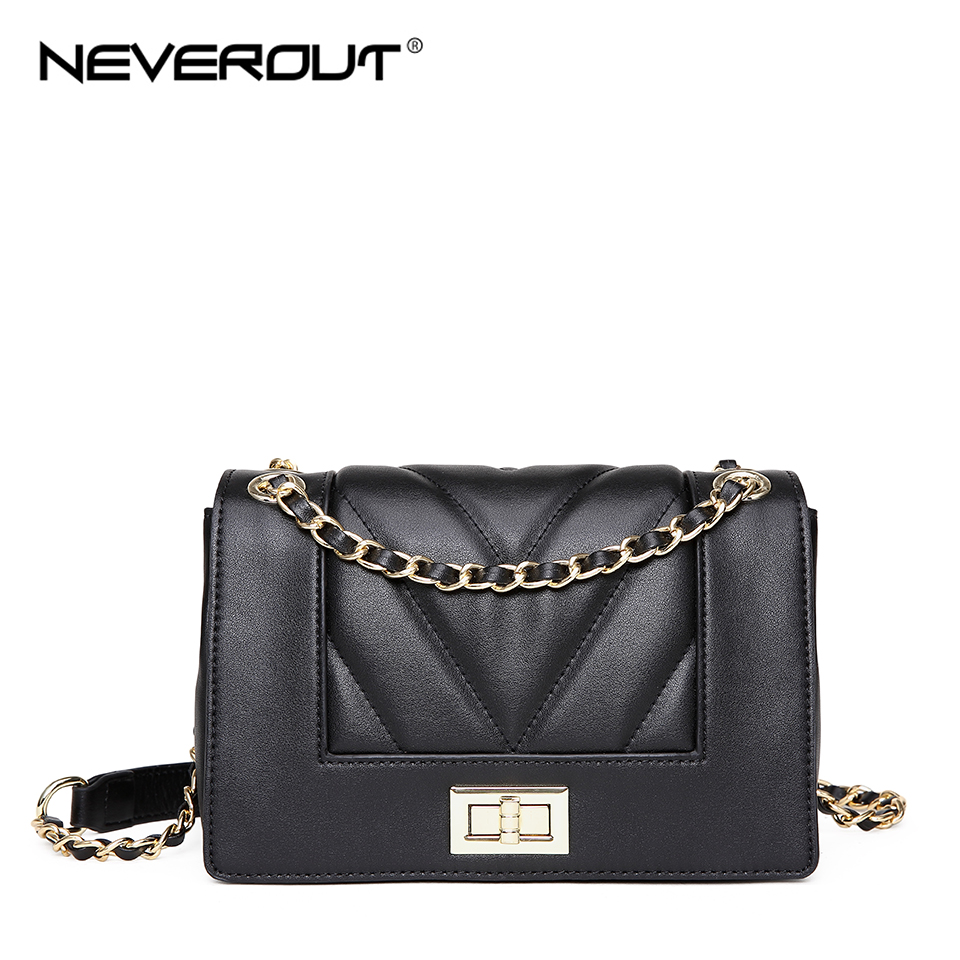NEVEROUT Thread Style Leather Bag Fashion Mini Shoulder Crossbody Messenger Bag Small Flap Bags Classic Sac Luxury Handbags
