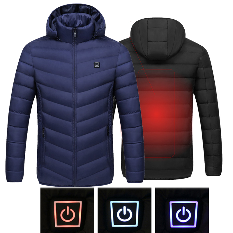 2019 Men Women Heated Outdoor Vest Coat USB Electric Heated Jacket Heating Coat USB Tactical Jacket Fishing Hiking Tactical Coat