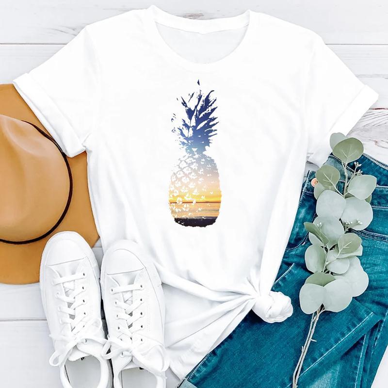 2021 Beach Holiday Summer Short Sleeve Women Cartoon Strawberry Cute Fashion Clothes Print Tshirt Female Tee Top Graphic T-shirt 4