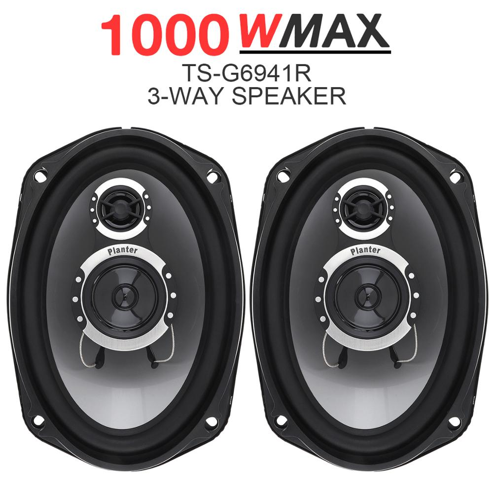 Universal 3 way 2pcs 6x9 Inch 1000W Car Coaxial Auto Audio Music Stereo Full Range Frequency Hifi Speakers for Cars Vehicle Auto