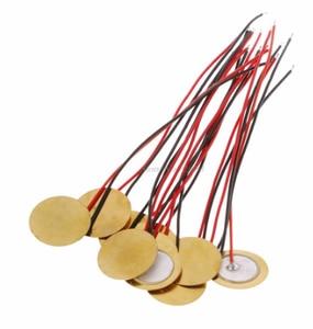 Image 3 - 20pcs/lot 15mm Piezo Elements buzzer Sounder Sensor Trigger Drum Disc With Wire Copper Piezo buzzers For Arduino Loudspeaker