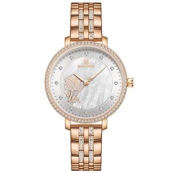 NAVIFORCE Luxury Ladies Watch Women Waterproof Rose Gold Steel Strap Women Watches Top Brand Bracelet Clocks Relogio Feminino 10