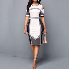 Женское винтажное коктейльное платье Белое Облегающее Платье