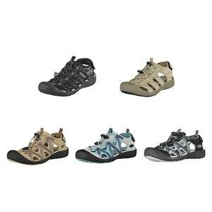 Image 3 - GRITION Women Sandals Flat Casual Outdoor Toecap Protective Trekking Non slip Shoes Comfort Wear risistant Fashion Beach Sandals