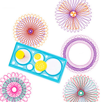 1 pcs creative spirograph multi-function drawing template ruler students educational toys stationery Ever-changing flower ruler image