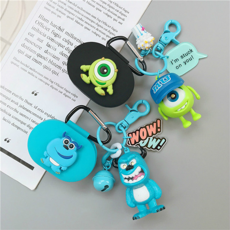 Cartoon Earphone Cover For Redmi Airdots Case With Hook Cute Doll Protection Frame With Keychain For Mi Airdots Earphone Cases