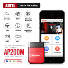 Autel ap200m obd obd2 bluetooth scanner ferramenta de diagnóstico do carro obdii pk thinkdiag easydiag 3.0 md802 ap200 cr319 obd 2 diagnóstico