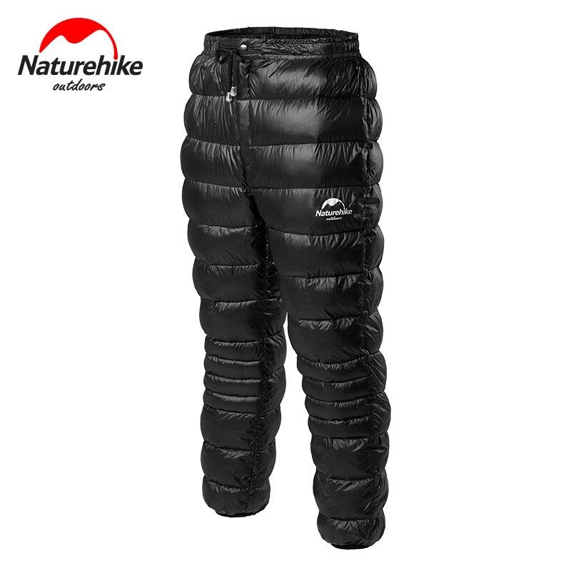 Naturehike Winter Camping Goose Down Thickening Trouser Unisex Waterproof Windproof Keep Warm Goose Down Outdoor Skiing Pants