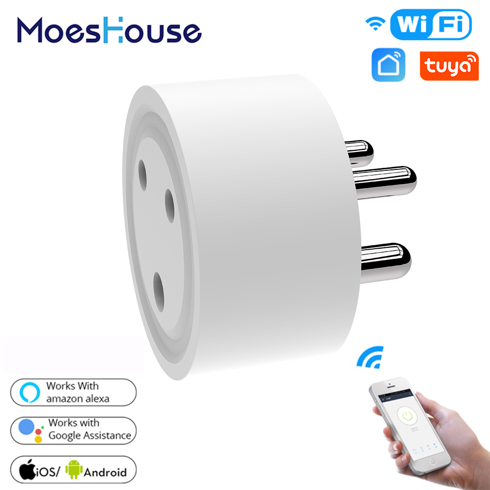 IN WiFi Smart Plug Outlet Wireless Power Socket Smart Life/Tuya App Remote Control Work With Alexa Google Home No Hub Required