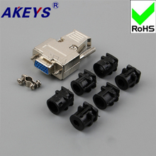2PCS 1 PCS Three rows of DB15 white rubber head long rod iron shell serial port common joint gold plated industrial grade