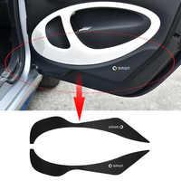 Porta di protezione adesivo In fibra di Carbonio texture decorazione per la nuova smart 453 fortwo forfour Anti-graffio accessori di modifica
