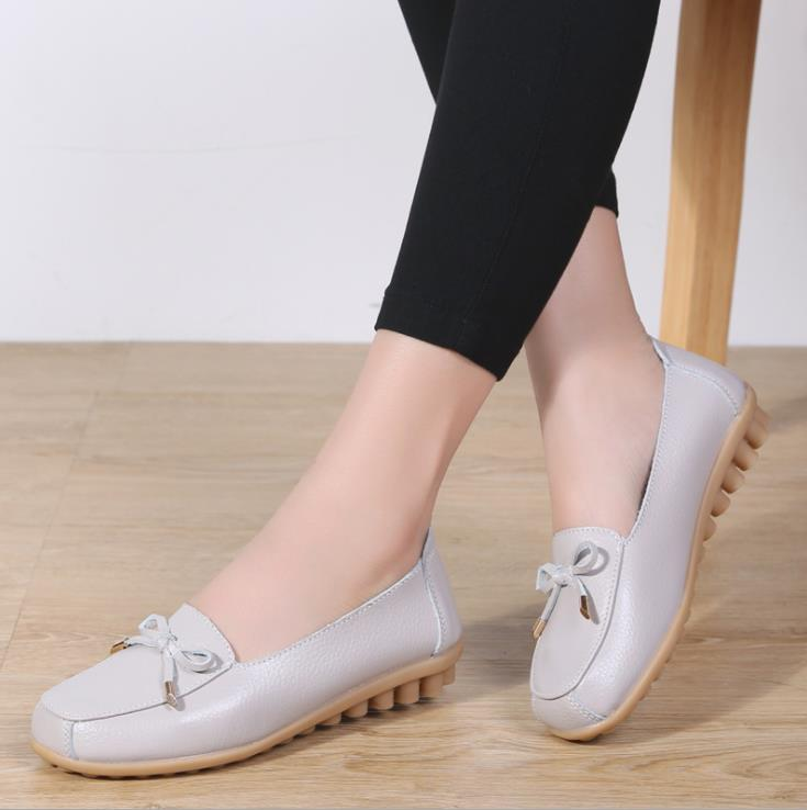 2019 new spring and autumn womens shoes Fashion round head bowknot sof