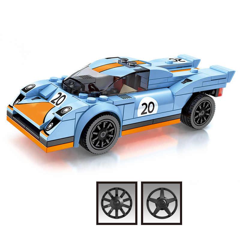 Город супер гонщики скорость чемпионы гоночная модель автомобиля строительные блоки Совместимые Legoed Technic enlamten Кирпичи Детские игрушки