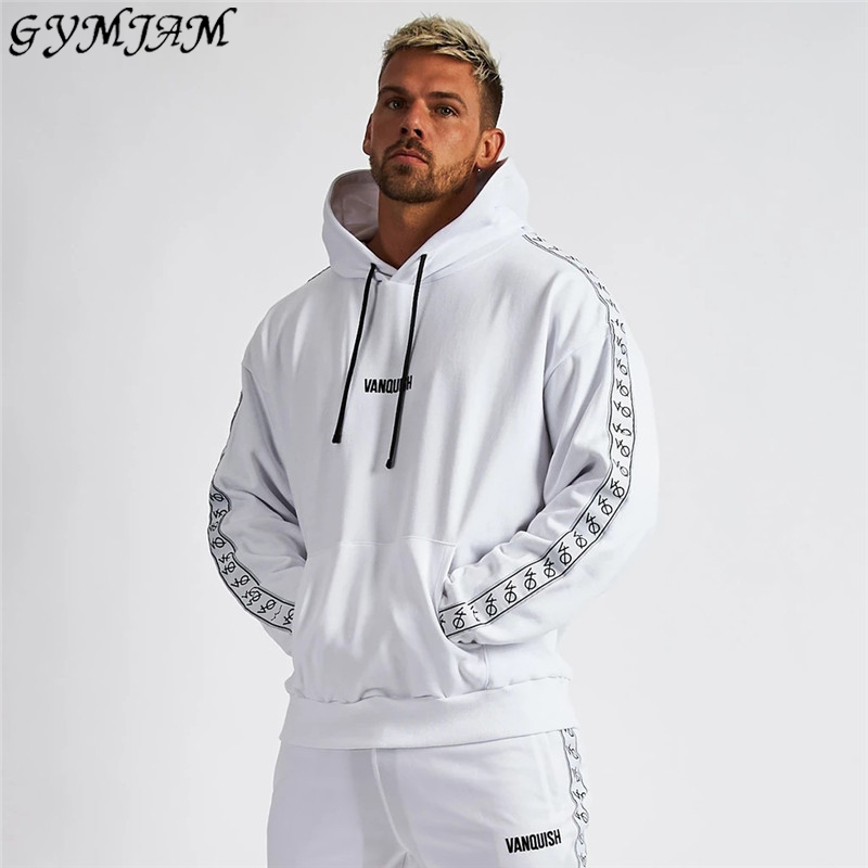 Fashion Streetwear Men's Clothing 2019 New Men's Hoodies Cotton Pullover Jogger Loose Sportswear Brand Quality Hoodie