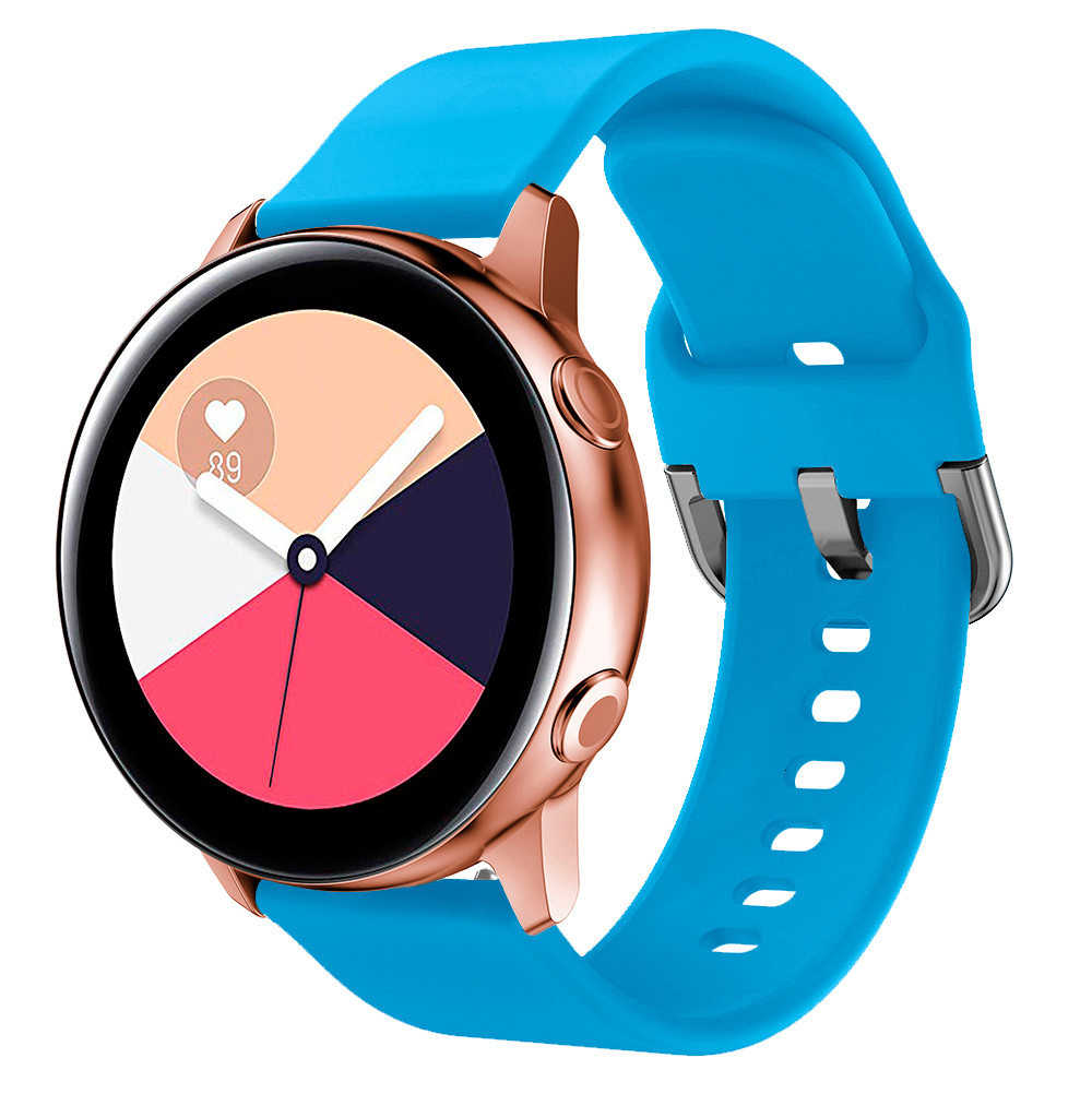 20mm סיליקון רצועת לסמסונג גלקסי שעון פעיל 44mm פעיל 2 צמיד רצועת השעון עבור ציוד S2 Huami Amazfit ביפ Galaxy 42mm