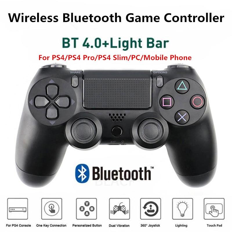 PS4 Controller Wireless Game Joypad Bluetooth Gamepad Controle Joystick Double-Motor Vibration 4 Sem Fio Para Ps4 PS4 Pro