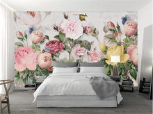 Photo Wallpaper 3D Flowers Murals European Style Pastoral Landscape Wall Paper For Walls 3 D Living Room Bedding Room Home Decor(China)