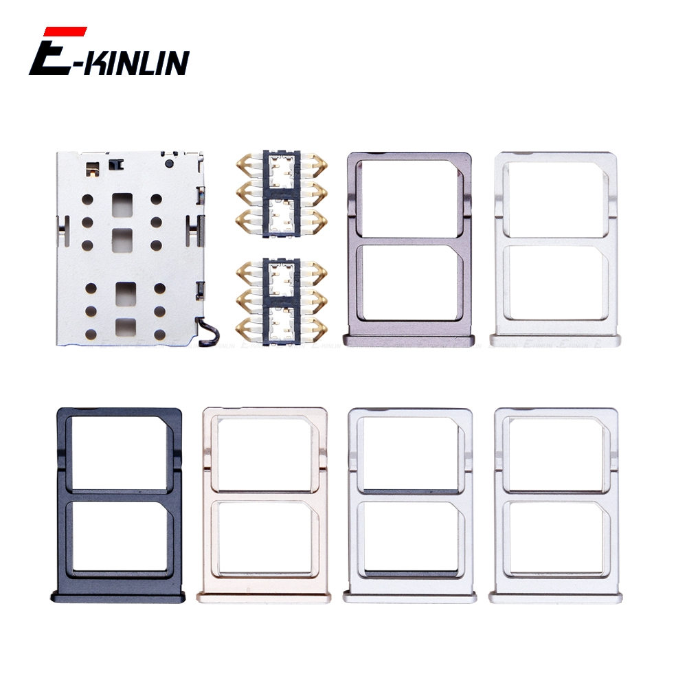 Sim Micro SD Card Socket Holder Slot Tray Reader For XiaoMi Mi 6 5 5S Plus Adapter Container Connector Replacement Parts